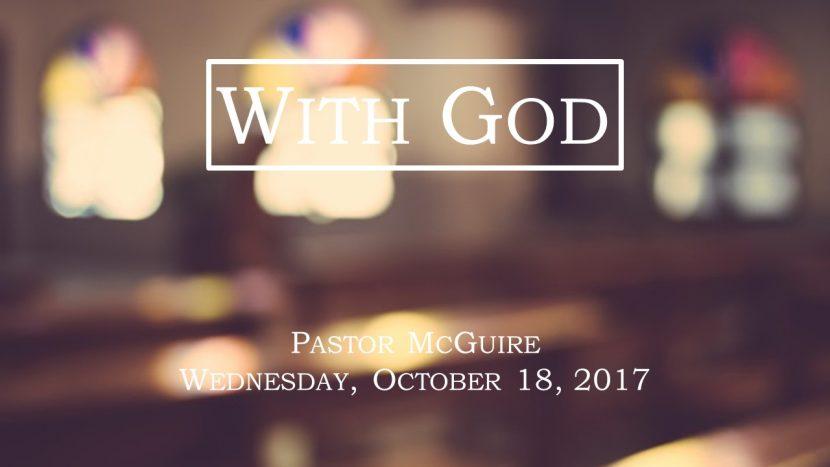 2017.10.18 With God (Pastor)
