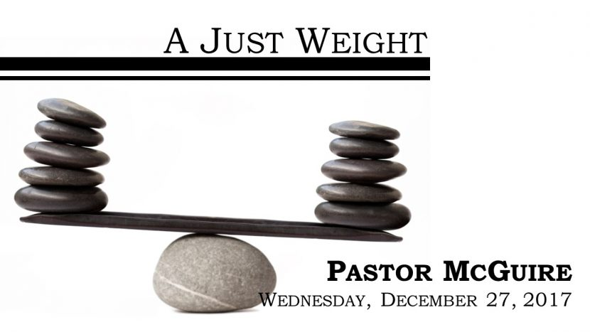 2017.12.27 Just Weight (Pastor)