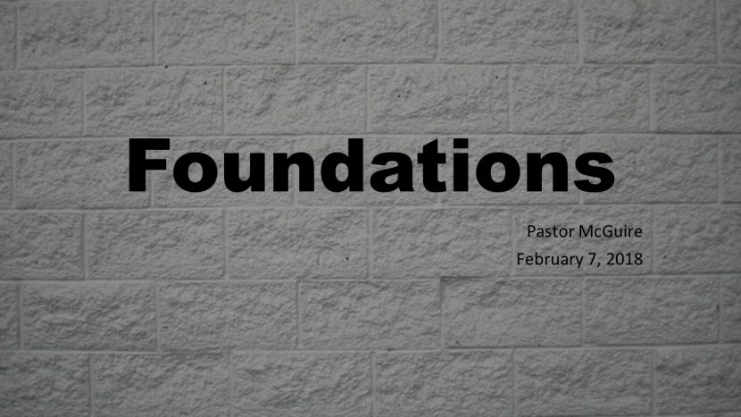2018.02.04 Foundations (pastor)
