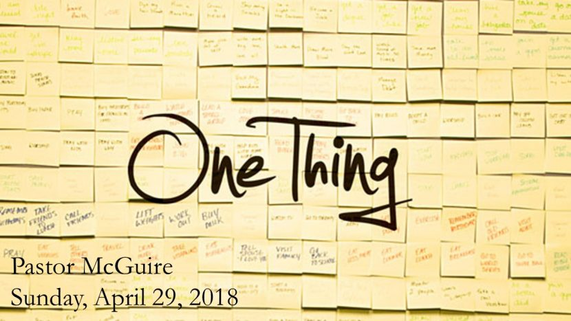 2018.04.29 One Thing (Pastor)