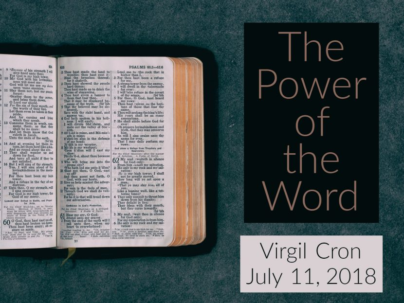 2018.07.11 The Power of the Word