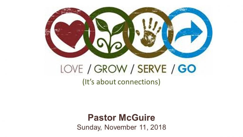 2018.11.11 Love Grow Serve Go (Pastor)