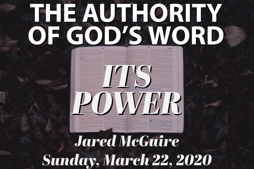 The Authority of God's Word - It's Power